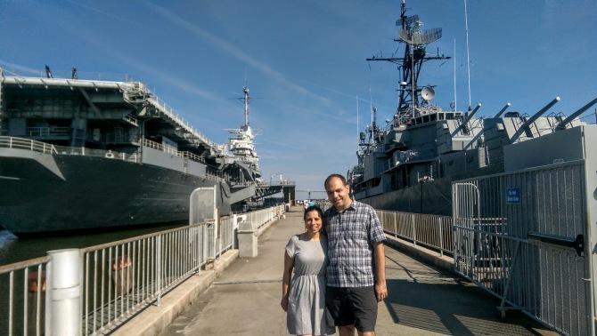 The USS Yorktown and the USS Laffey