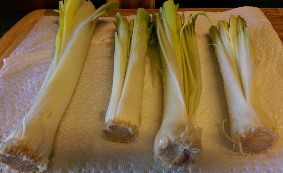 Washed leeks