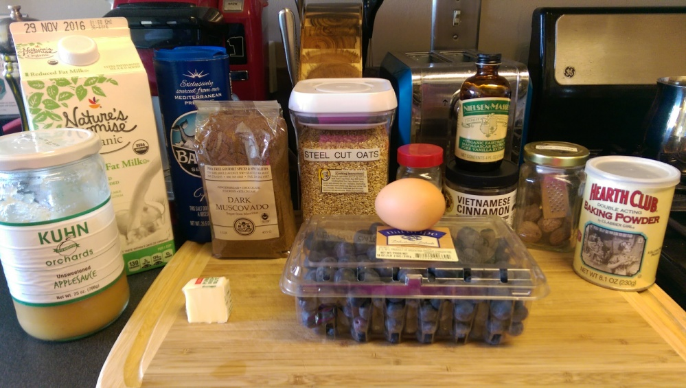 Baked oatmeal Ingredients